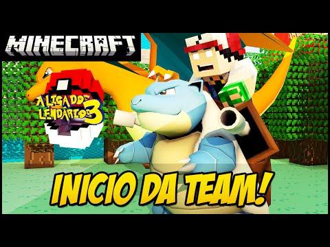 Minecraft POKEMON LIGA DOS LENDÁRIOS 3 MINHA TEAM #2