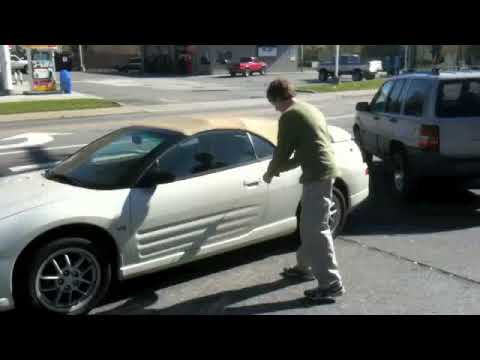 2001 Mitsubishi Eclipse Spyder GT Convertible Top Demonstration Video