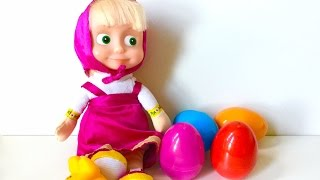 Masha open Surprise Eggs
