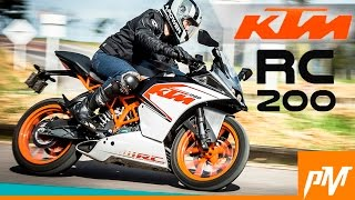Test Drive con la KTM RC 200 / PubliMotos TV