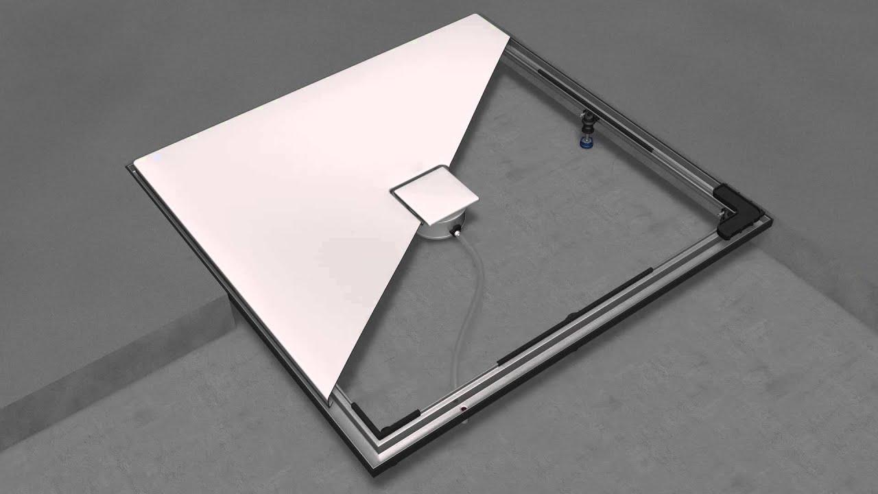 duschwannen bodengleich und barrierefrei einbauen. Black Bedroom Furniture Sets. Home Design Ideas
