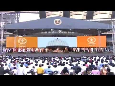 PM Modi attending Devendra Fadnavis's swearing-in ceremony as Maharashtra CM