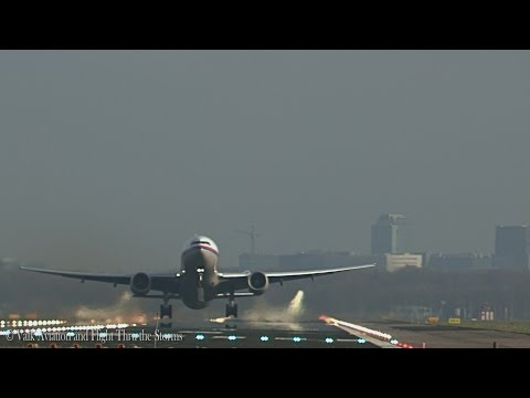 Last flight of Malaysia Airlines at AMS