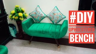 #diy bench how to make upholstered bench