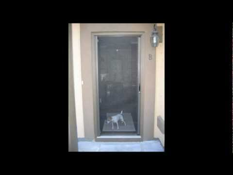 Screen away doors converts storm door to a screen door for Storm door with roll up screen