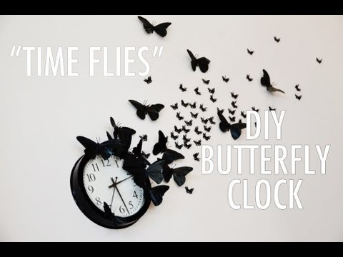 "DIY ""Time Flies"" Butterfly Clock - A Mr. Kate Quickie Tutorial"