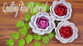 QUILLING ROSE FLOWER TUTORIAL