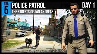 GTA 5 Police Patrol - Day 1 - Chases, Tazers and Grove Street