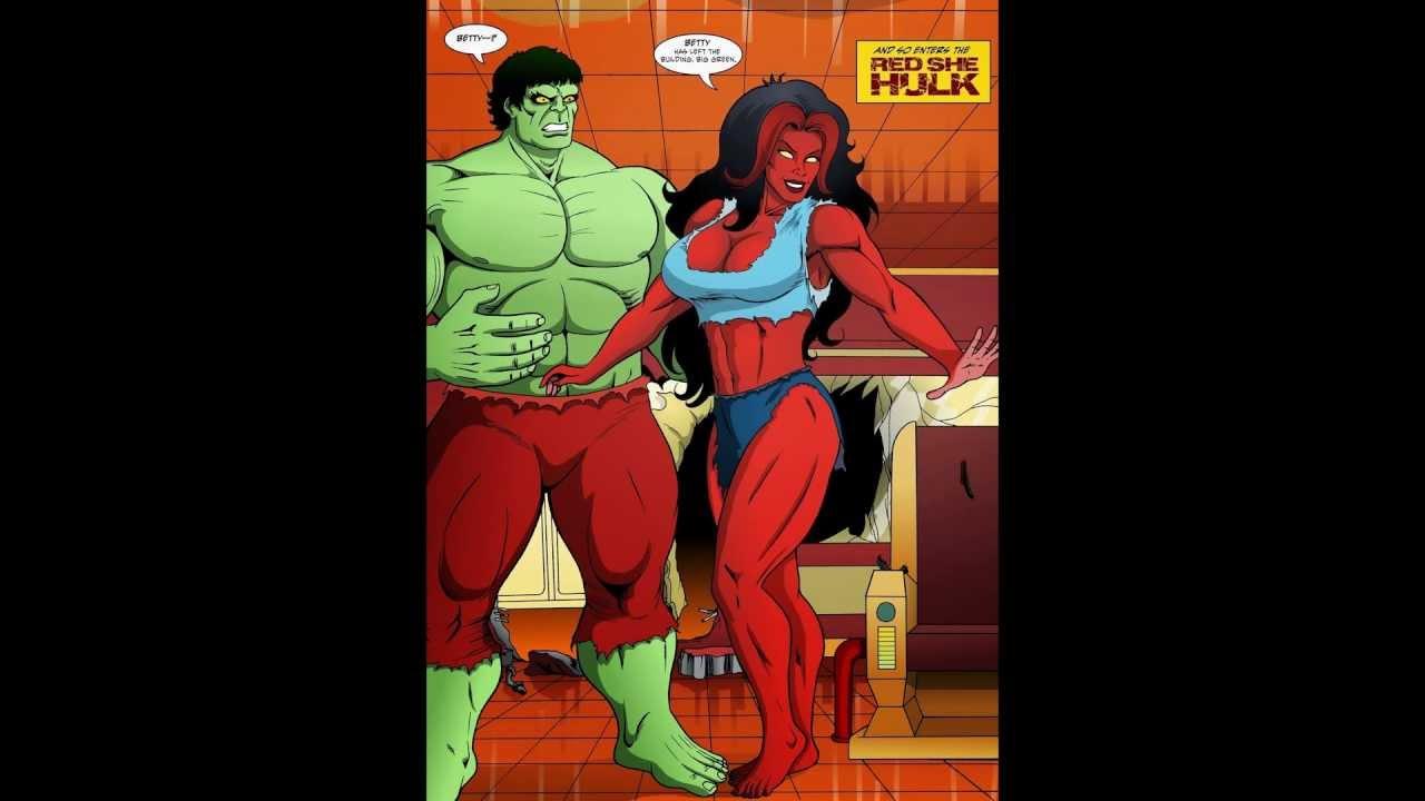 Hulk and She Hulk in Red