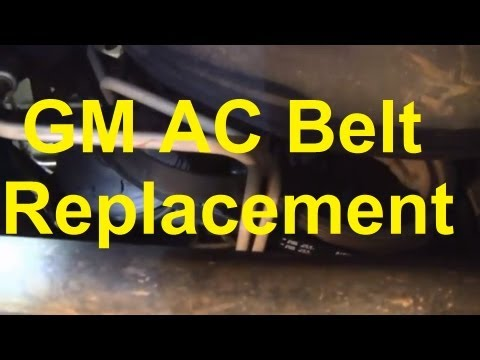 How To Replace The AC Belt On A Silverado / Sierra / Tahoe / Suburban / Yukon Etc