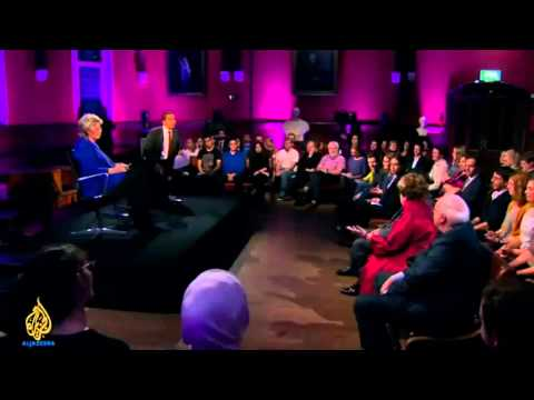 Al Jazeera: Head to Head at Oxford Union, Margot Parker from UKIP is ridiculous !