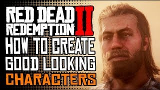 RED DEAD ONLINE -  How To Create Beautiful Characters  RDR2 ONLINE In Depth Character Creation