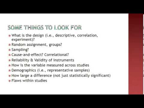 How to write a good article critique - YouTube