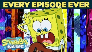 Every Episode EVER! 🤪 SpongeBob Title Cards | #TuesdayTunes