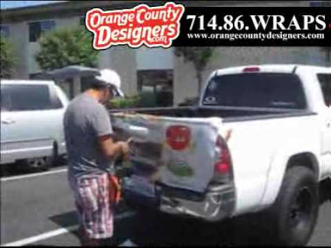 Orange County Truck Wrap Toyota Tacoma Tailgate Wrap