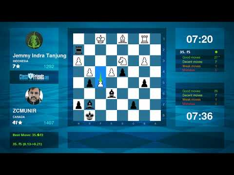 Chess Game Analysis: Jemmy Indra Tanjung ZCMUNIR : 01 (By ChessFriends.com)
