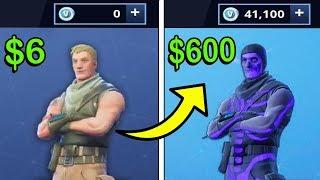 Trading a $6 Fornite Account to a $600 Rare Fornite Account!!