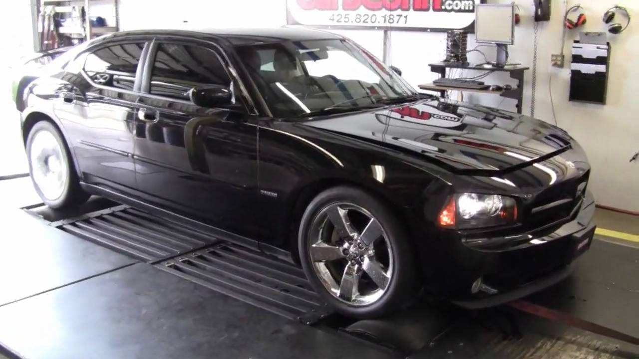 Supercharged 2008 Charger RT Kenne Bell Dyno at CarbConn - YouTube