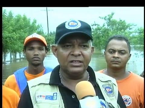 Desbordamientos del Yuna afecta agricultura y viviendas en provincia Duarte