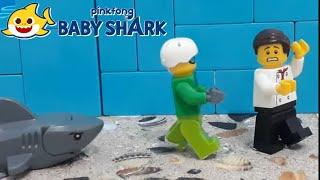 BABY SHARK DANCE BATTLE - LEGO version - lego stop motion