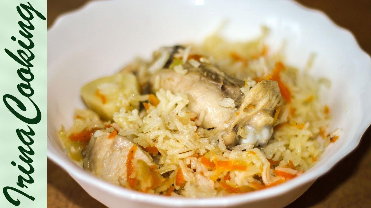 плов в курицей в сковороде рецепт с фото