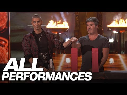 Whoa! Dangerous Magic From Aaron Crow! (All Performances) - America's Got Talent 2018