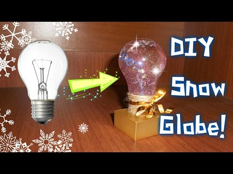 DIY Holiday Gift: Snow Globe! 2016 / Lamp/ Снежный шар из лампочки! - A1Net Music Videos
