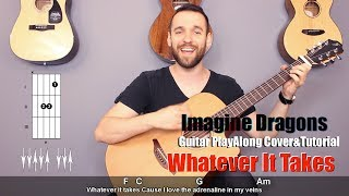 Download Lagu Imagine Dragons  - Whatever It Takes (guitar cover with lyrics and chords) Gratis STAFABAND