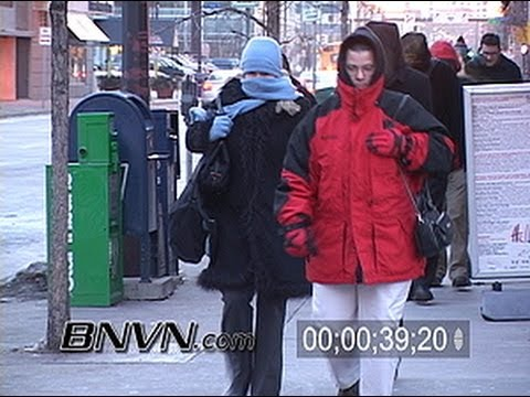 1/22/2004 Video of people in very cold temps