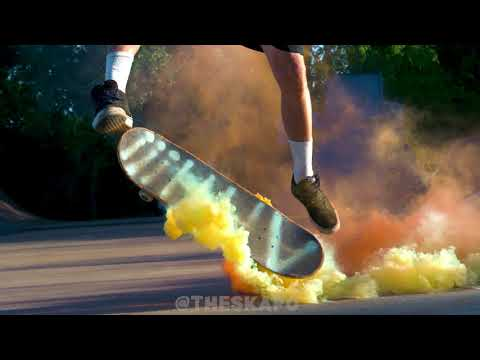 Strapping SMOKE BOMB to a Skateboard | Jason Bastian