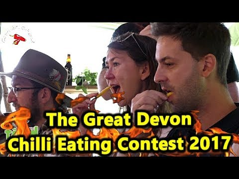 Chilli Pepper Eating Contest   Great Devon Chili Challenge   October 2017