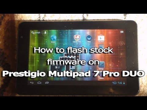 How to flash stock firmware on Prestigio Multipad 7 Pro DUO (PMP5570C)