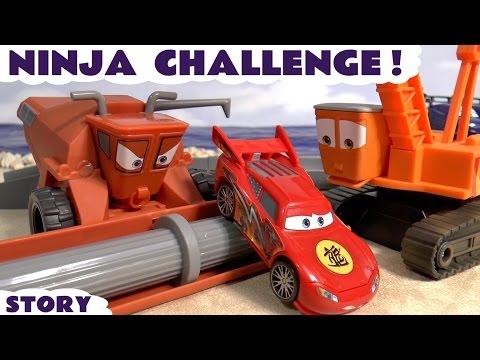 Disney Cars Toys & Ninja McQueen Race Spiderman Avengers Batman Superheroes Escape Frank & Crane