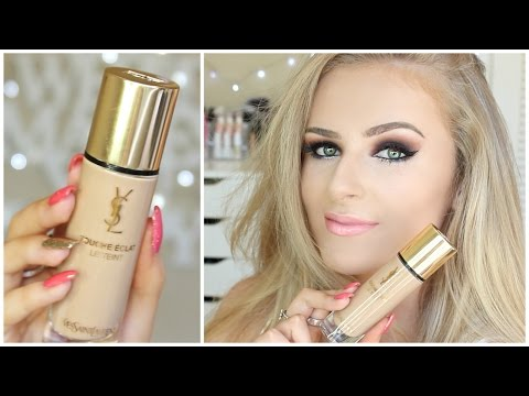 Trying NEW Foundation | YSL Touche Éclat Le Teint Review!