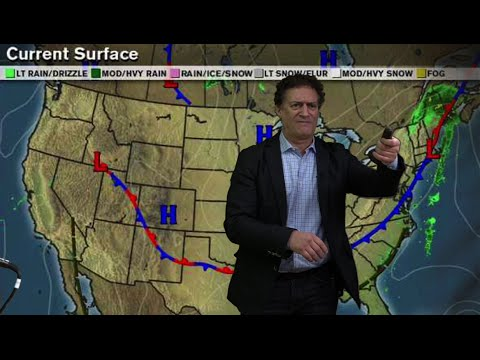 Weatherman Anthony Reports on Hurricane Joaquin