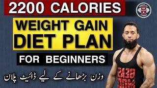 Diet Plan For Weight Gain | Diet Plan To Gain Weight Fast | 2200 Calories Diet Plan | Urdu/Hindi