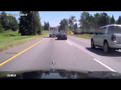 Accident Langley, BC July 8, 2013 caught on my Dashcam