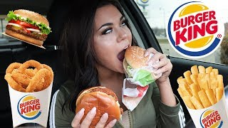TRYING BURGER KINGS NEW SPICY CHICKEN SANDWICH + MUKBANG | Steph Pappas
