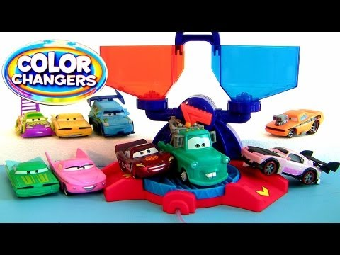 Cars 2 Color Changers Playset Spray Lightning McQueen, Sally, Boost, Body Shop Ramone Water toys