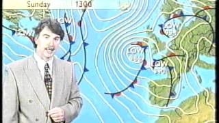 bbc weather with john kettley plus continuity