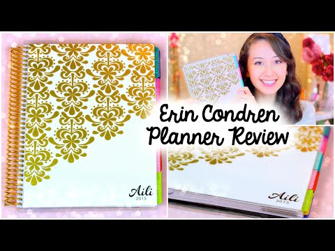 Erin Condren Life Planner 2015   Unboxing & Review