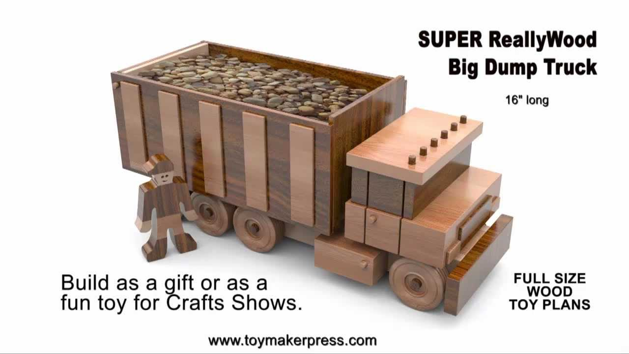 Wood Toy Plans - Table Saw - Big Dump Truck - YouTube