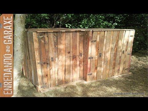 Como hacer un compostador con palets how to make a pallet for Como hacer una puerta de madera paso a paso