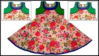 New Designer Super Modern Neck Girls Baby Frock Cutting & Stitching Full Tutorial for Easy Way