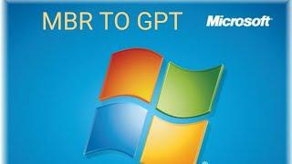 التحويل من GPT إلى MBR على ويندوز 7
