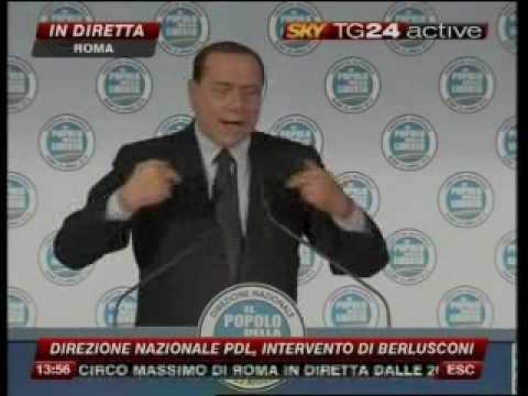 Scontro Fini Berlusconi pdl direzione pdl 22/04/2010