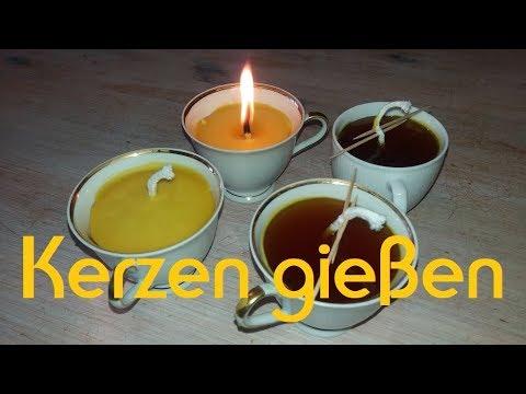 Bienenwachs-Kerzen und Honig-Salbe selber machen