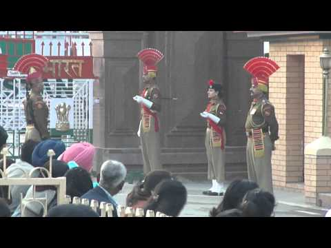 Wagah Border Parade video