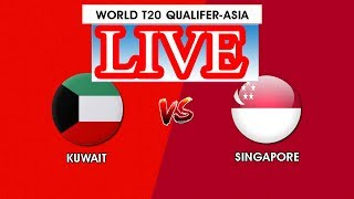 Kuwait Vs Singapore LIVE Cricket match Icc-T20 asian (2019 july 23) Live News Nepal sin vs kuw