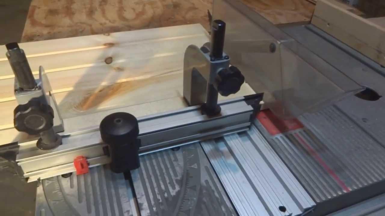 Ryobi Bt3000 Sliding Miter Table Demonstration Youtube